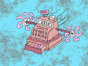 flying cash register