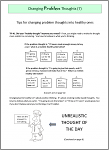 "cover to booklet ""Cognitive therapy for recovery"""