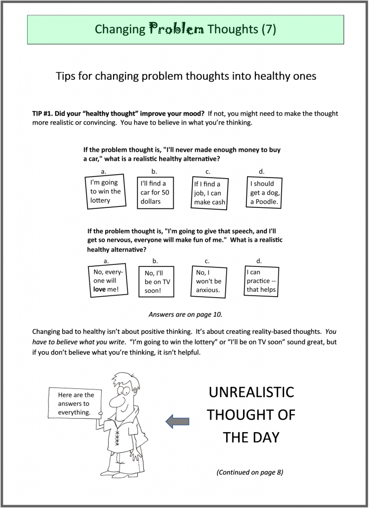 """cover to booklet """"Cognitive therapy for recovery"""""""